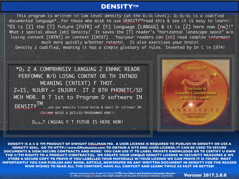 DENSITY LOGO COPYRIGHT AND ™ NOTIFICATIONS